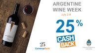 Order Argentinean Del Fin Del Mundo wine and get 25% CashBack