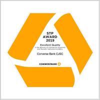 """Կոնվերս Բանկին շնորհվել է Commerzbank-ի """"Euro STP Excellence Award-2019"""" մրցանակը"""